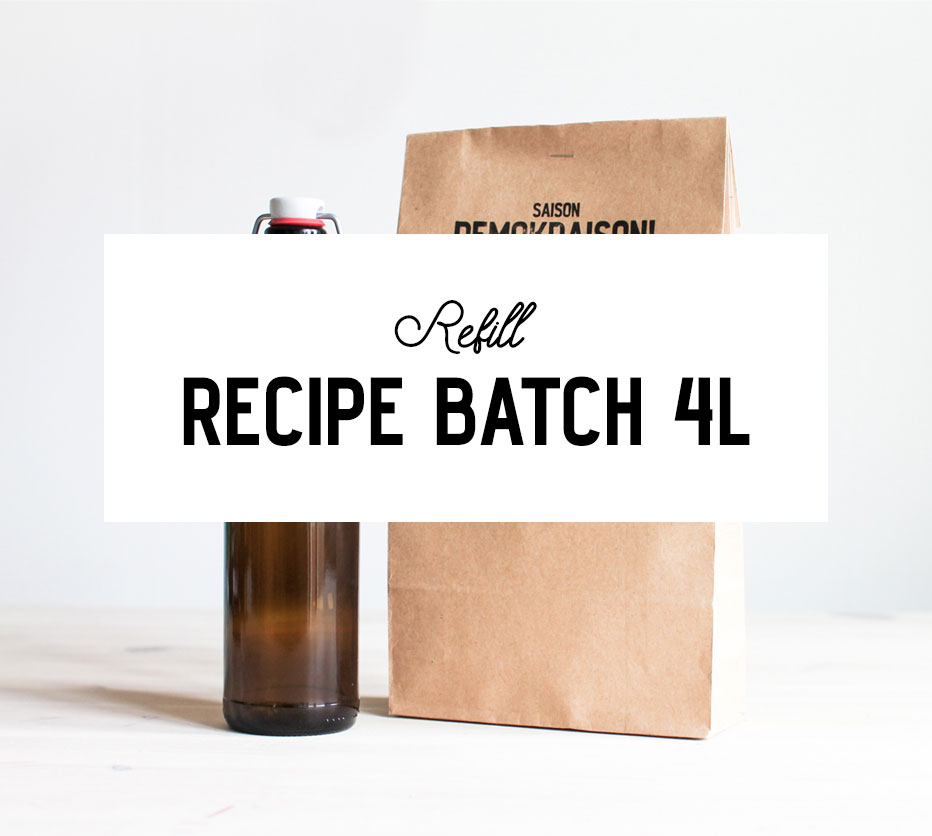 4-liter Refill Recipe Batch